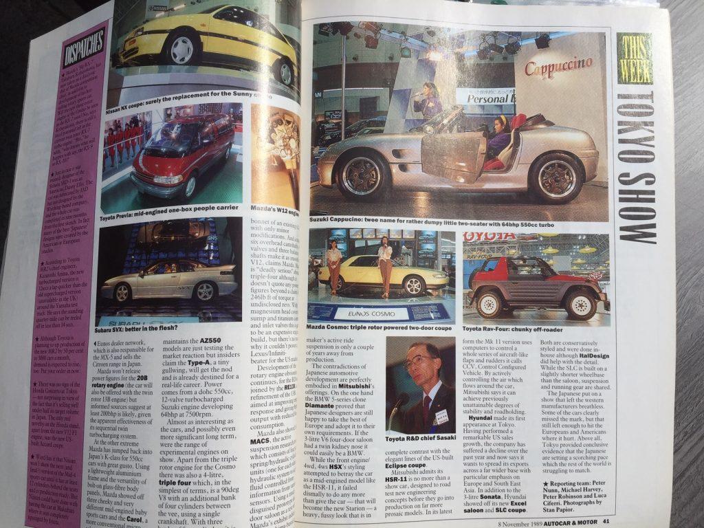 Suzuki Cappuccino magazine clippings