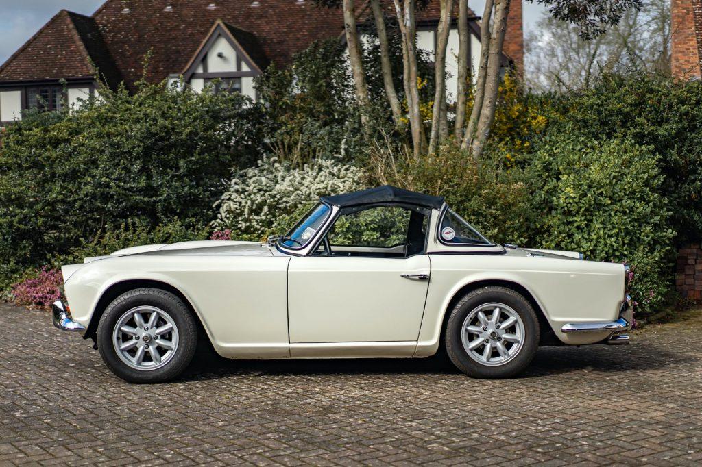 Triumph TR4 in profile