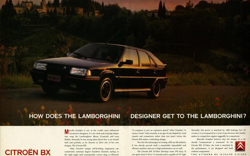 Citroen BX 16v advert