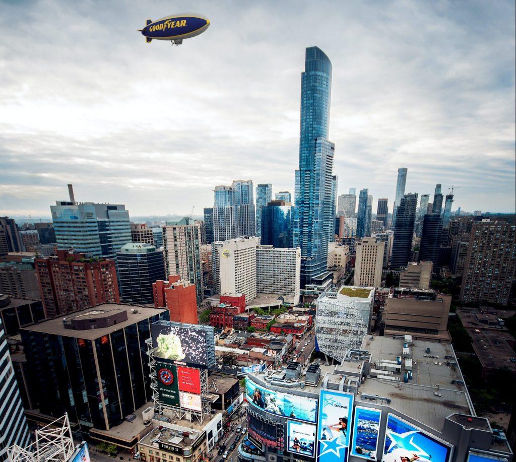 The Goodyear Blimp over Toronto Marcin Skalij / Unsplash