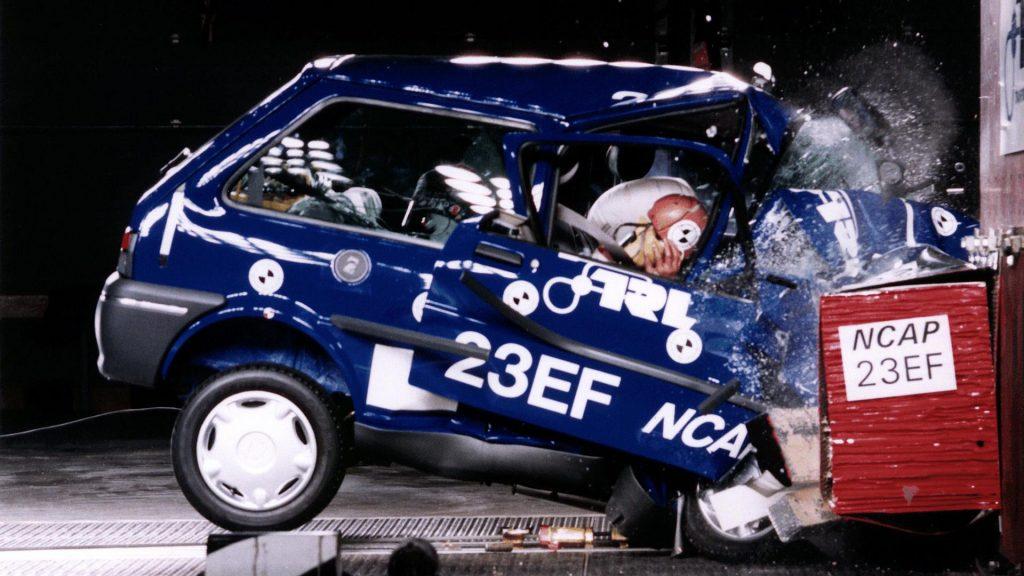 Rover 100 EuroNCAP crash test