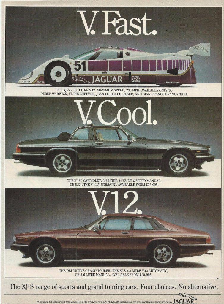 Jaguar XJS advert