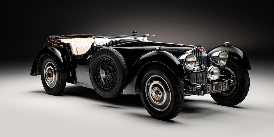 A 1937 Bugatti Type 57 sold at Bonhams New Bond Street sale in February for £4.047 million