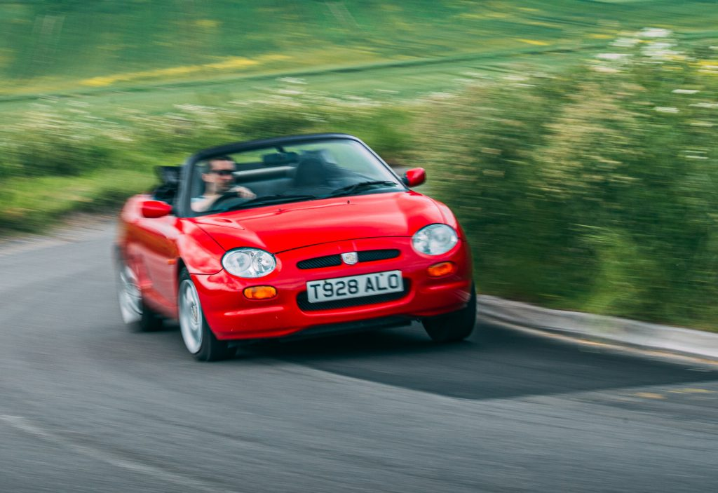 1998 MGF 1.8 VVC front cornering