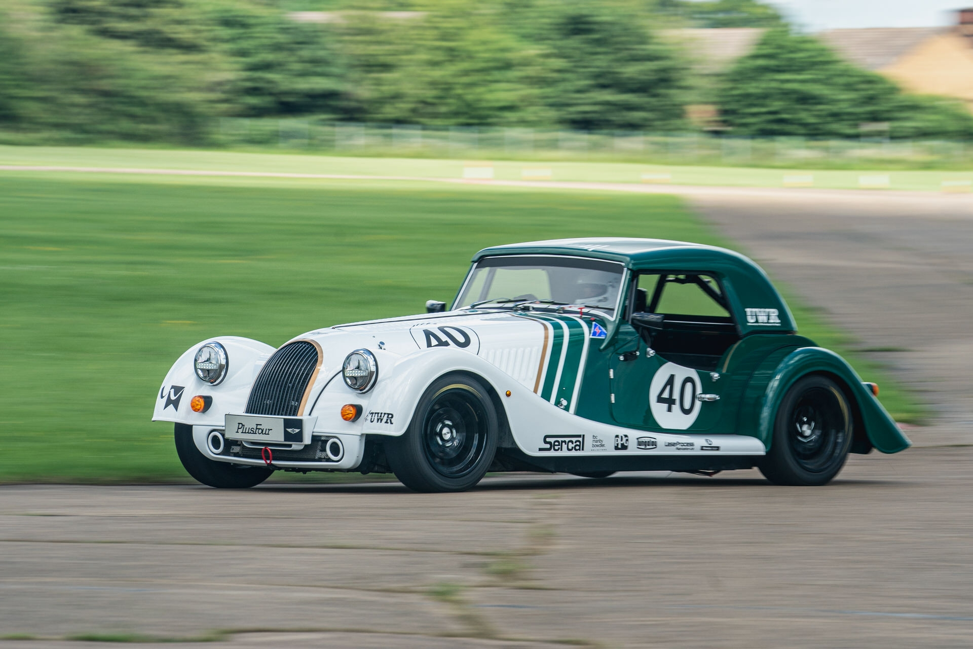 Morgan Plus Four racer readies for the track
