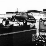 Mini Coopers in The Italian Job leap the rooftops of the Fiat factory