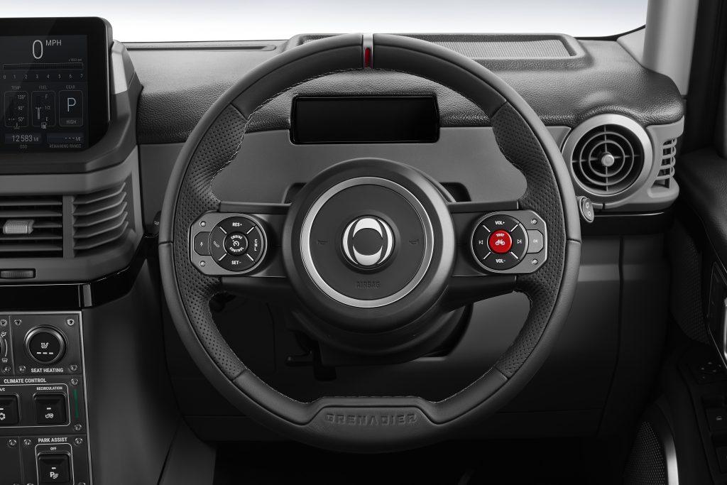 Ineos Grenadier steering wheel