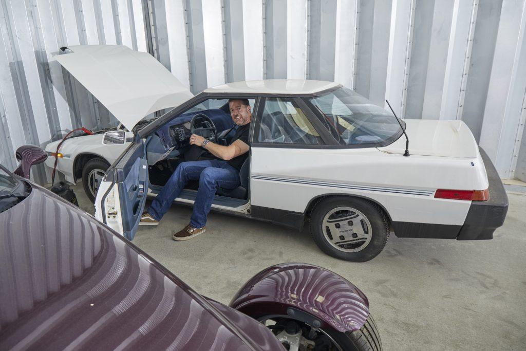 Paul Cowland attempts to start his Subaru XT