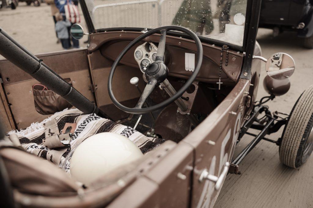 1928 Ford Model A phaeton hot rod interior