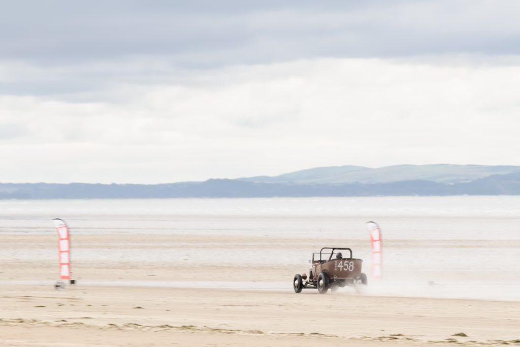 Hot road racing women Pendine Sands