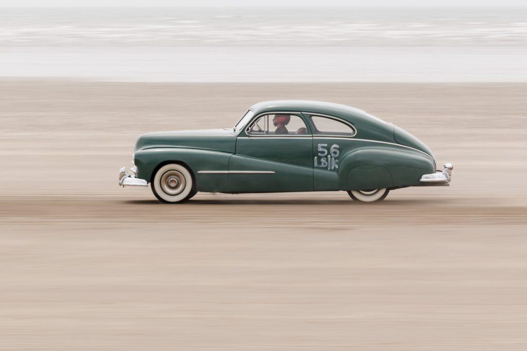 Scarlett Devey 1948 Pontiac Pendine Sands hot rod
