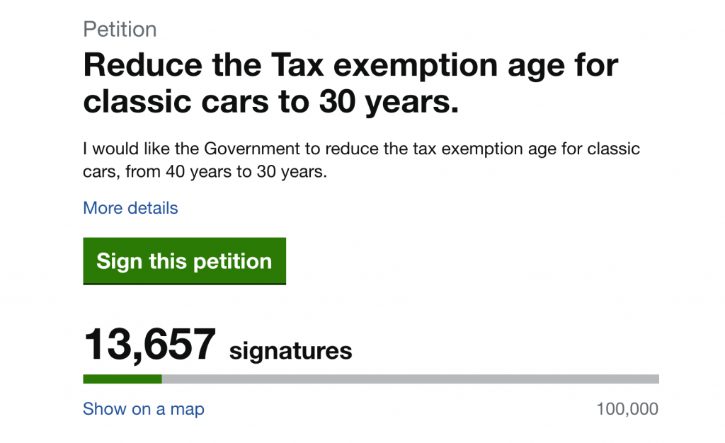 Campaign to have road tax exemption age reduced to 30 years hopes to reach Parliament