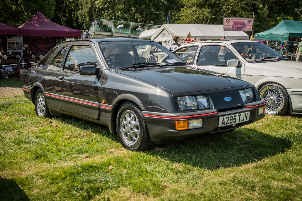 Ford Sierra XR4i at Shelsley Walsh Classic Nostalgia concours