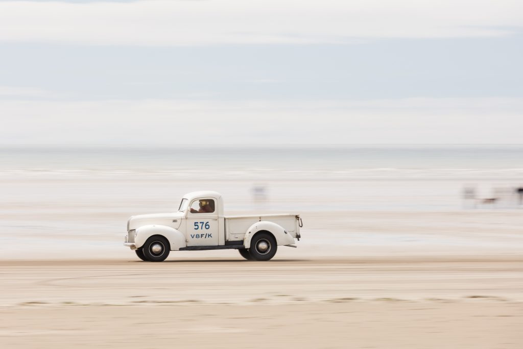 Tara Harvey and her 1941 Ford pick-up