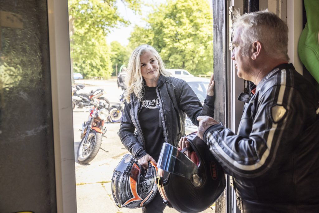 Advanced motorcycle rider training with Maria Costello