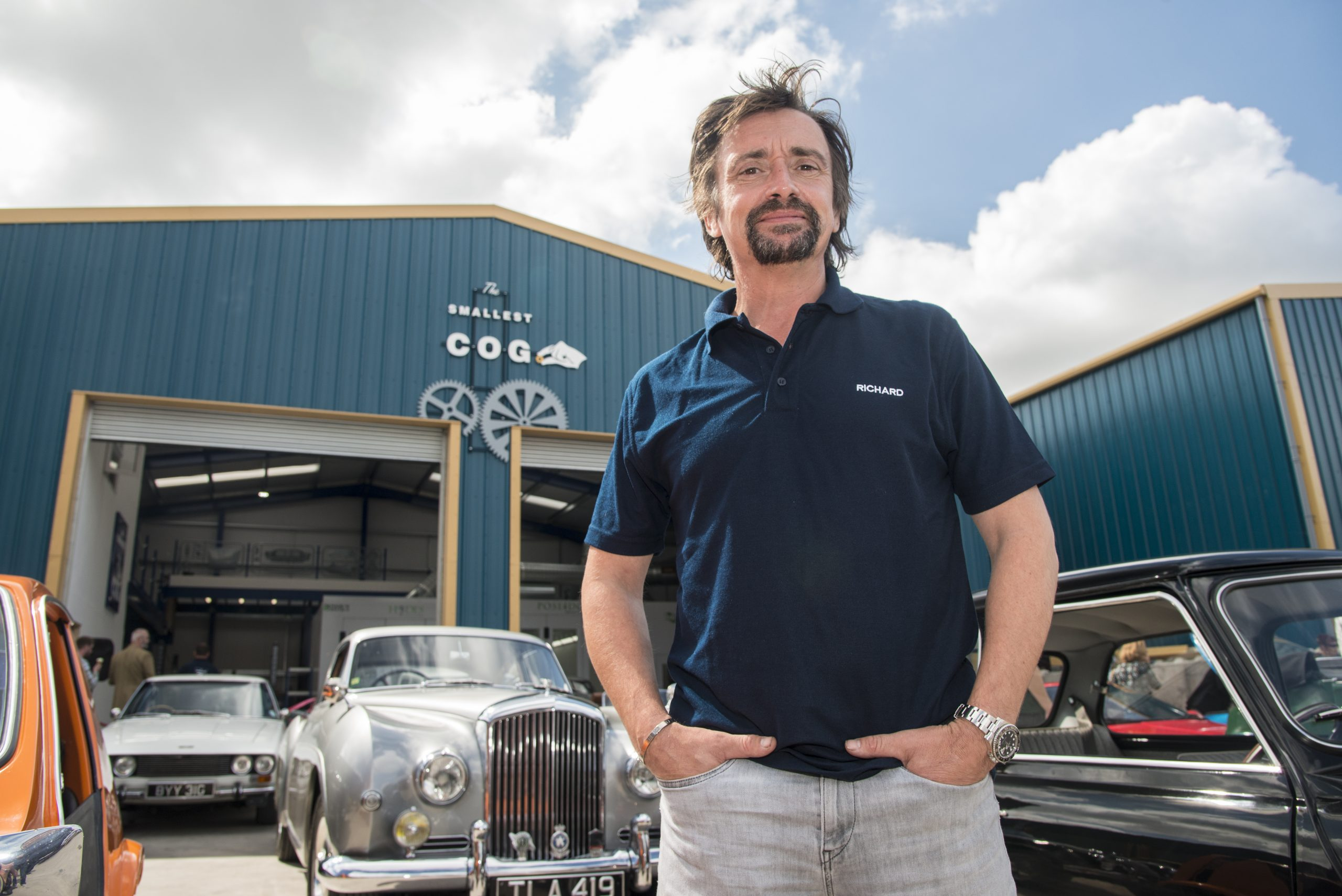 Angle grinders and spray guns at the ready! Richard Hammond's Workshop TV show hits screens on 18 October