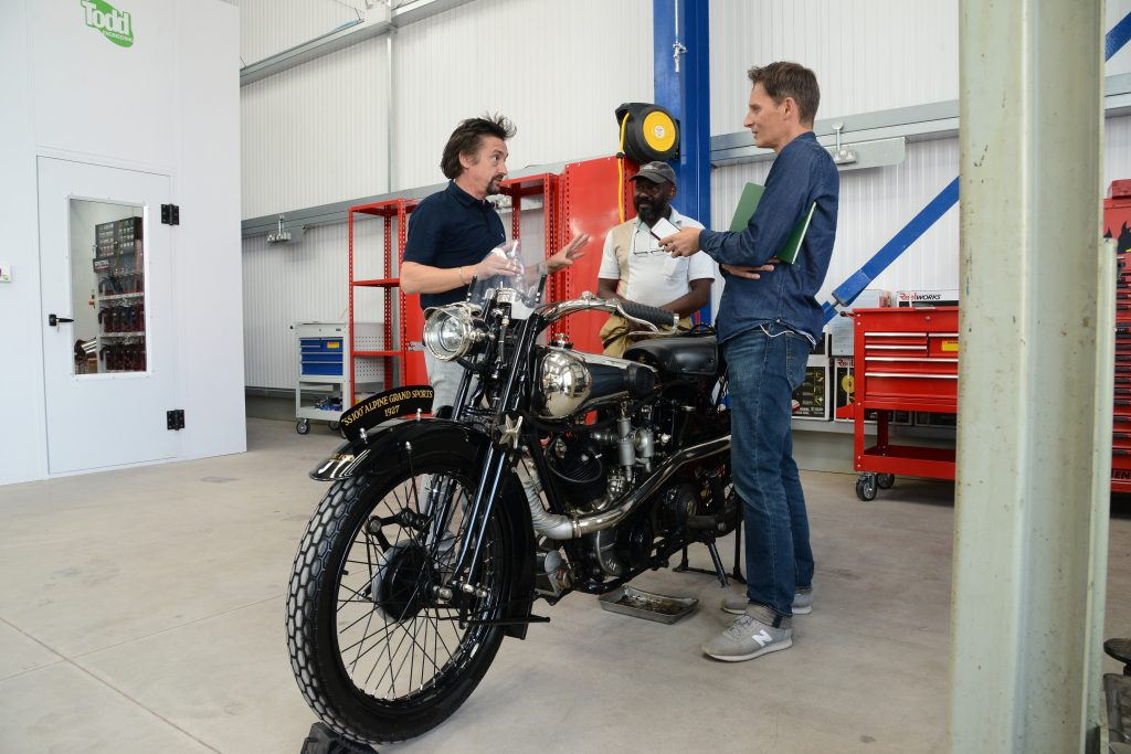 Richard Hammond tells James Mills about his plans for The Smallest Cog