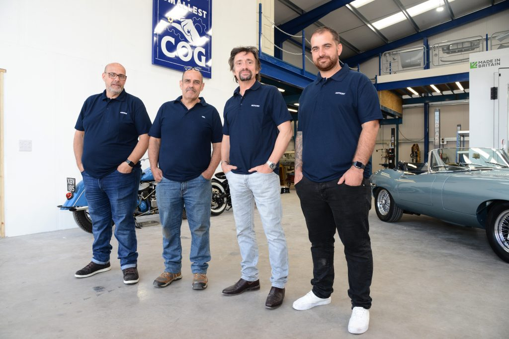 Richard Hammond with Neil, Andrew and Anthony Greenhouse