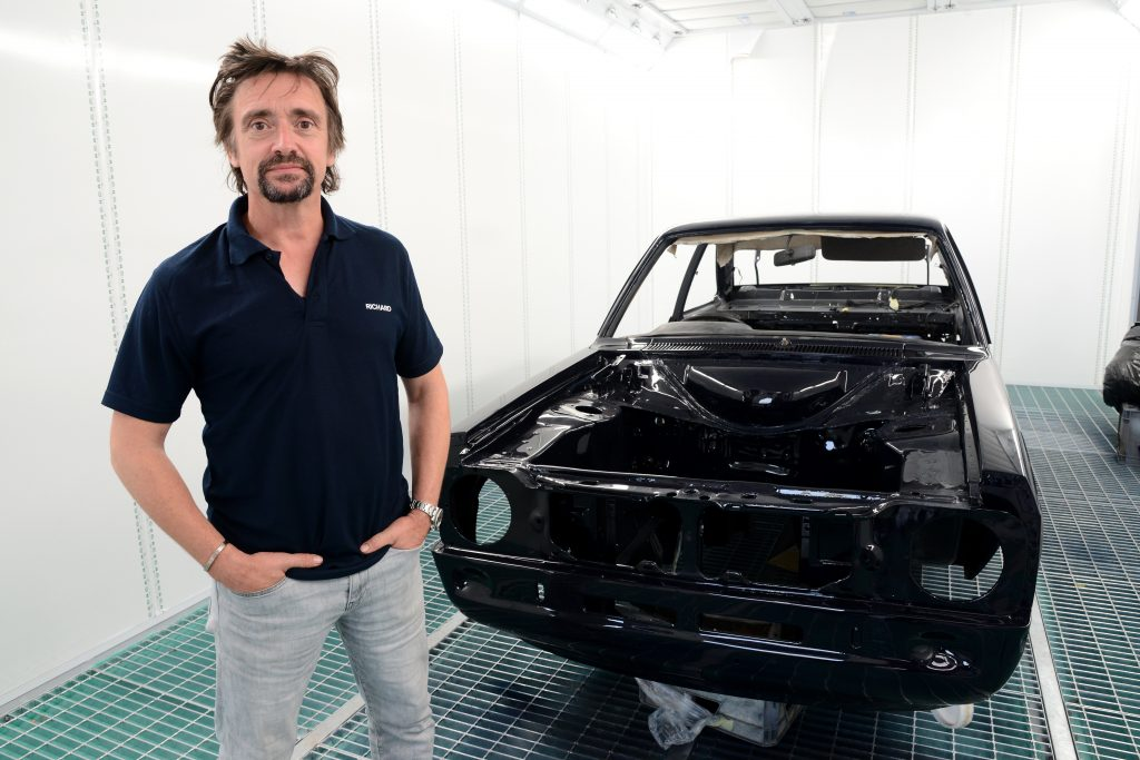 Richard Hammond with his Ford RS2000 project car