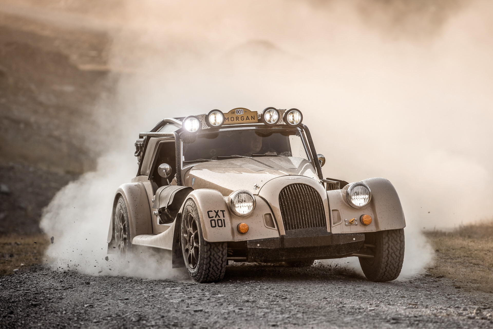 Send it in style with the rally-prepped Morgan Plus Four CX-T