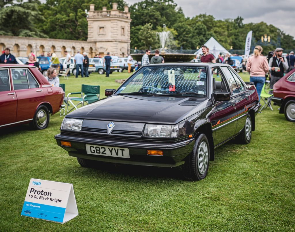 Jon Coupland's 1989 Proton 1.5 GL Black Knight Edition winner of the Festival of the Unexceptional