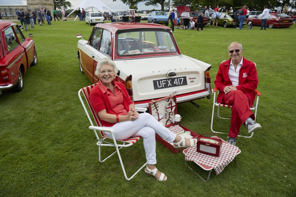 Keith and Chris Rowbottom, 1963 Triumph Herald 1200 saloon