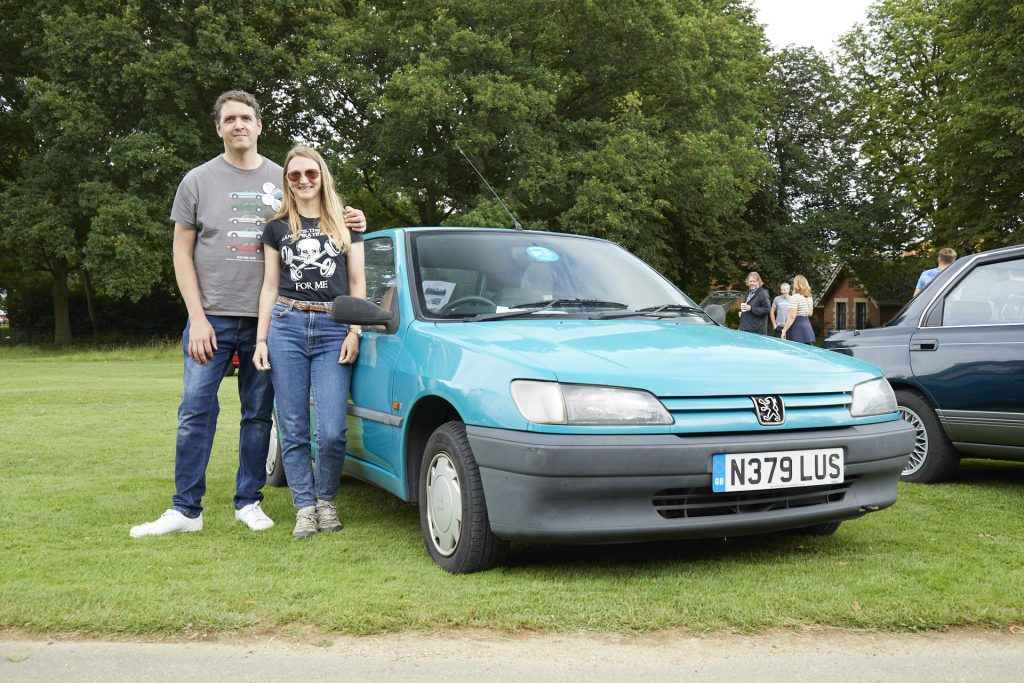 Chris and Nicola Haining, 1995 Peugeot 306 1.4i XN in Bermuda blue