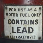 Leaded petrol antique can