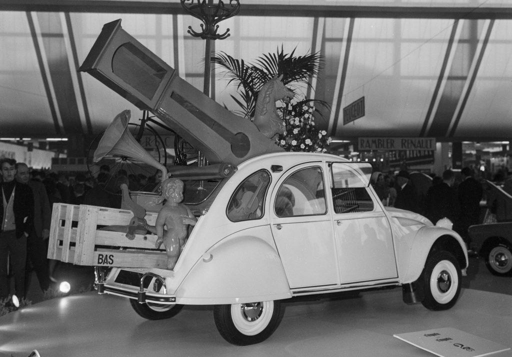 The Citroen 2CV at the 1966 Salon de l'Auto