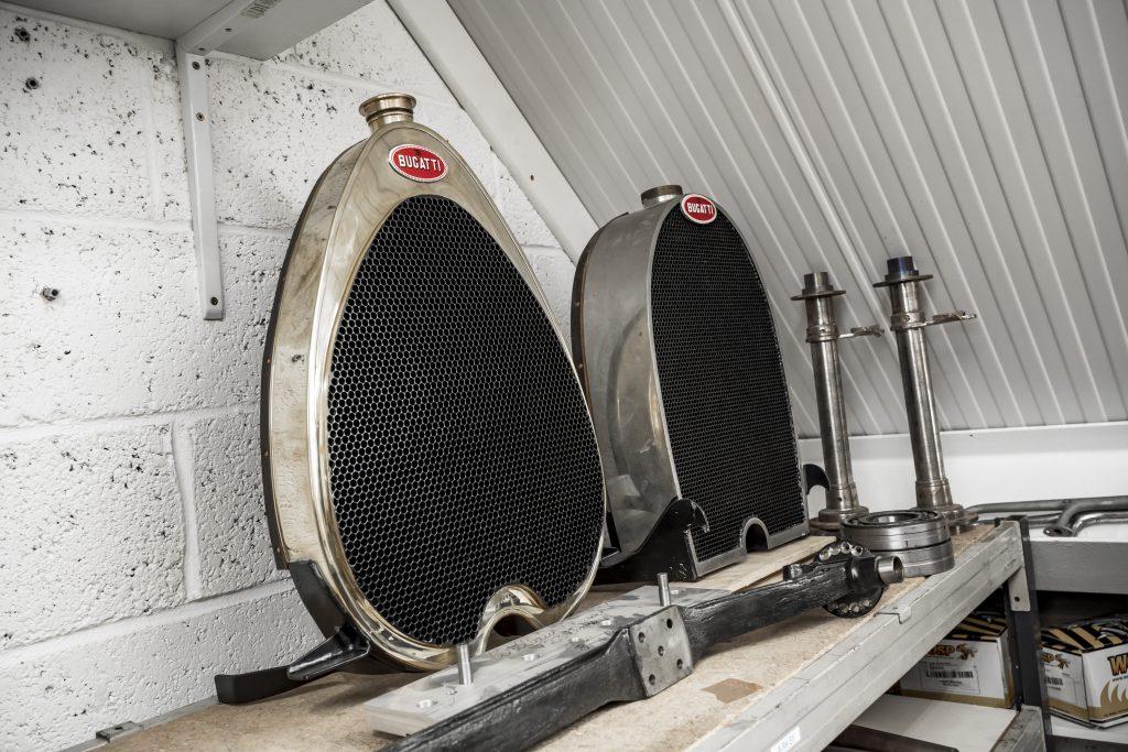 Bugatti radiator shrouds