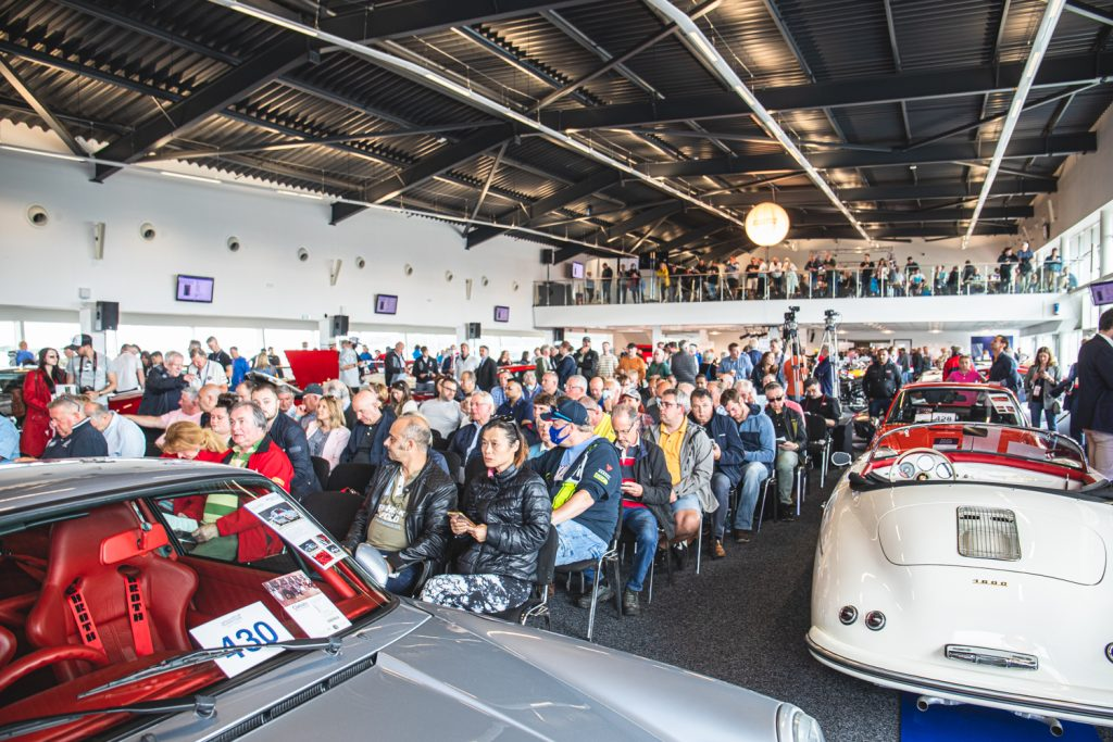 A full auction room for the sale of the Hammond Collection
