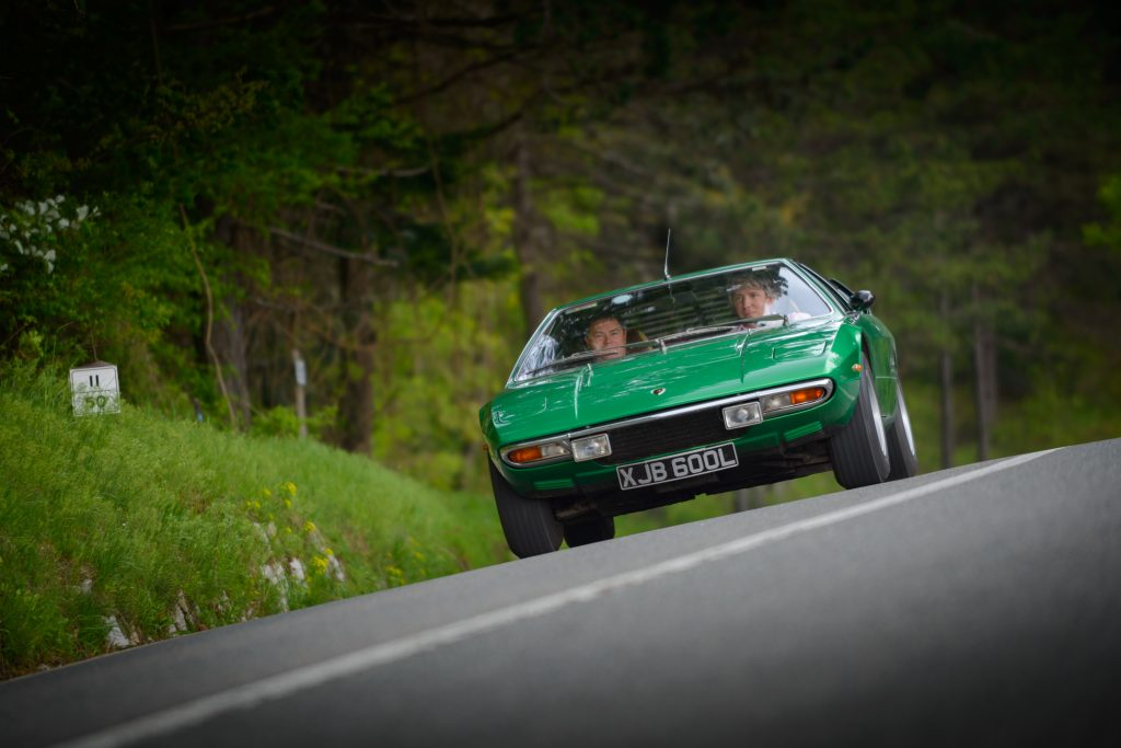 Mike Brewer and Edd China with the Lamborghini Urraco