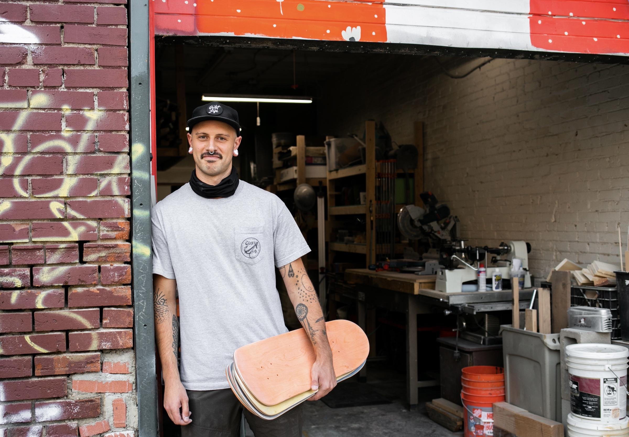 Hard Craft: Damon Stevens, skateboard upcycler
