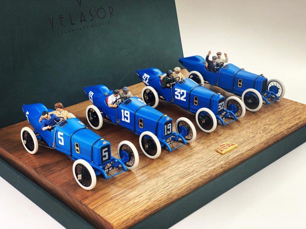 1914 Peugeot L45 Grand Prix Racer slot cars by Velasor