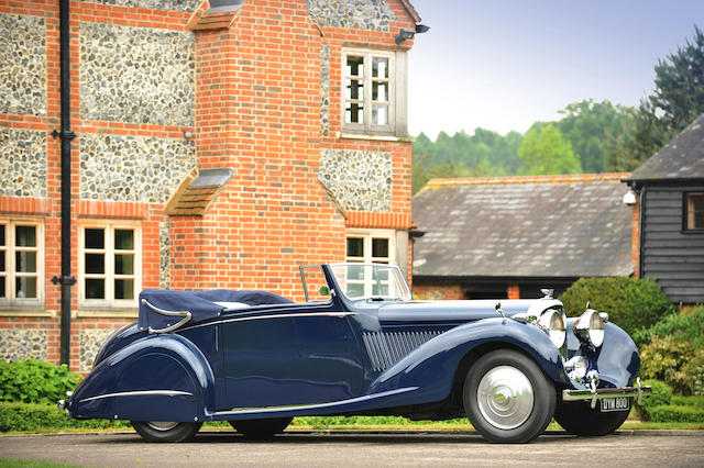 Highest premium paid for a Bond car_1937 Bentley 4 ¼-Litre Gurney Nutting 3-Position DHC, Never Say Never Again