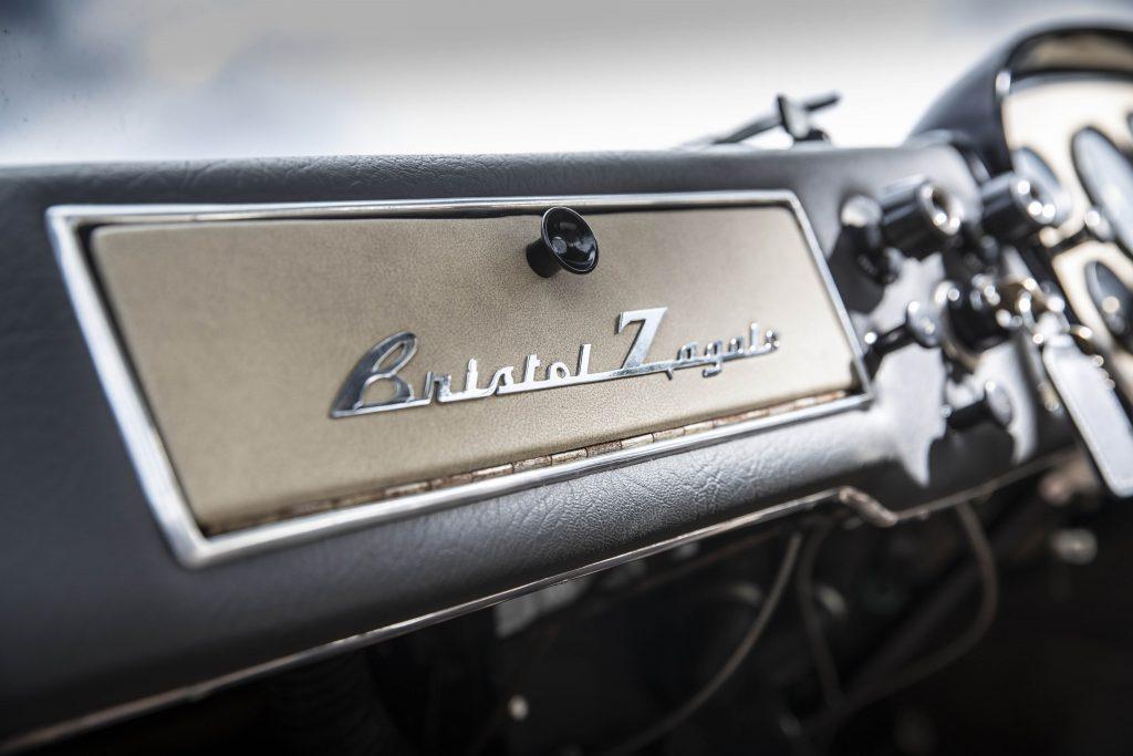 Bristol 406 Zagato glovebox badging