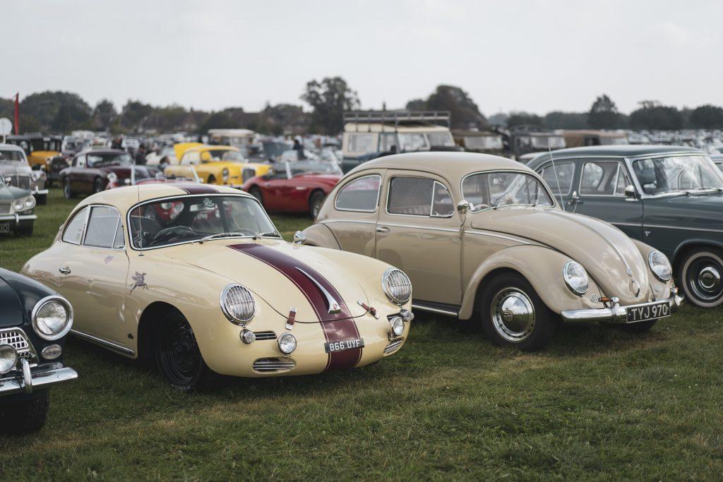 Porsche 356 and Volkswagen Beetle