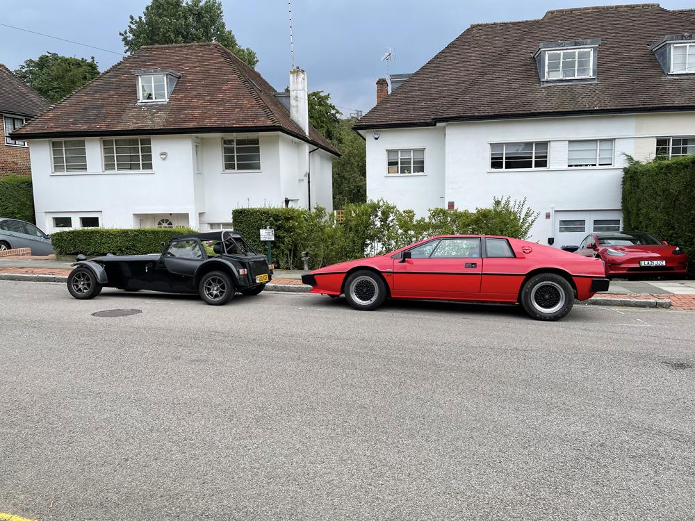 Nik Berg's Lotus Esprit S3 and Caterham 7