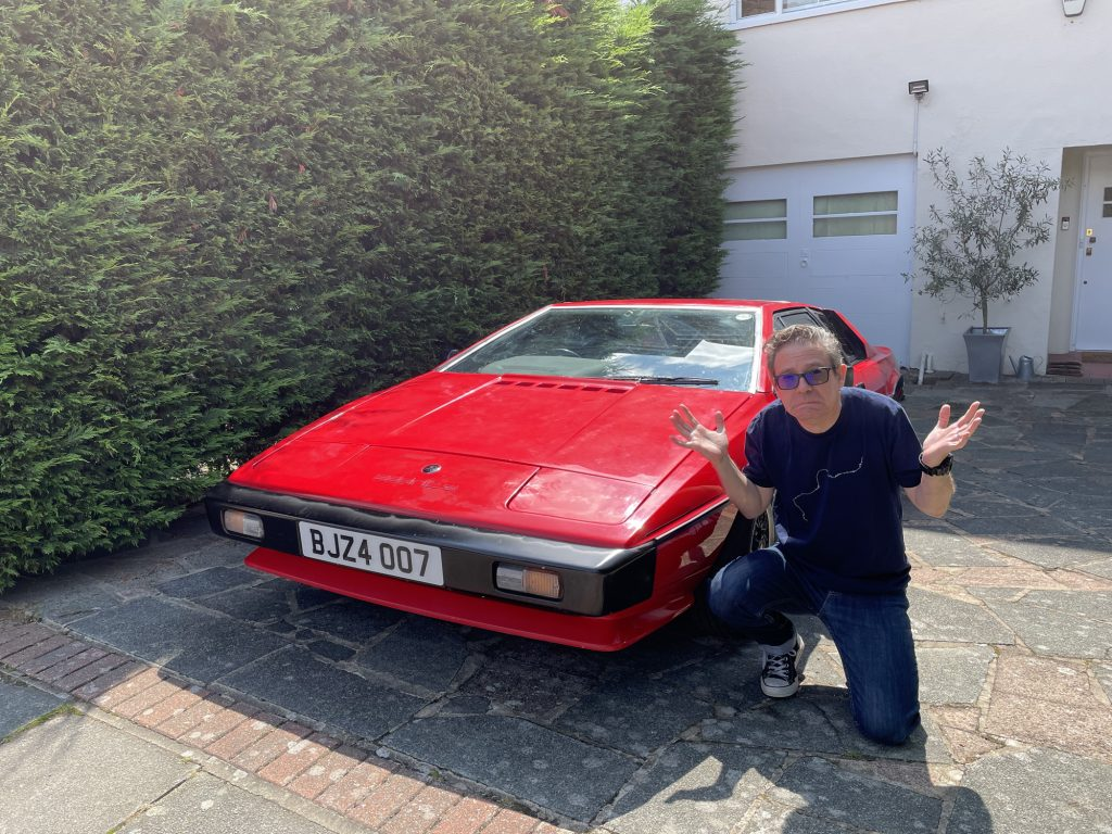 Nik Berg with his Lotus Esprit that he bought on eBay