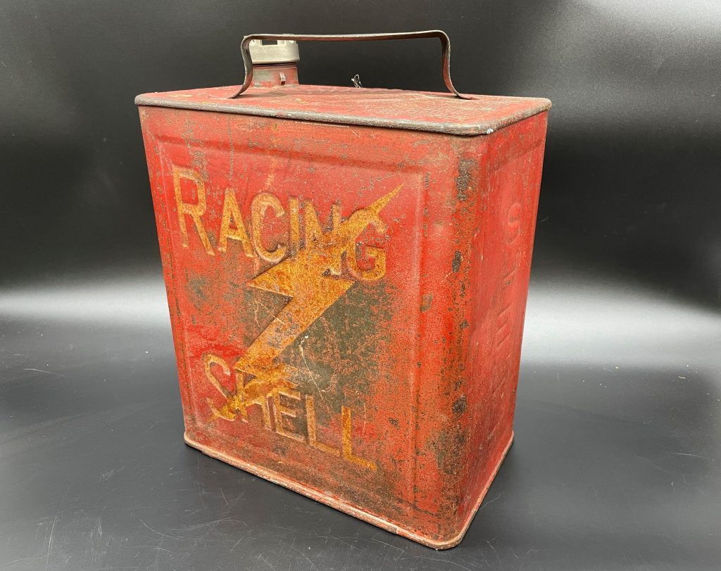 Alan Pooley petroliana collection Shell fuel can