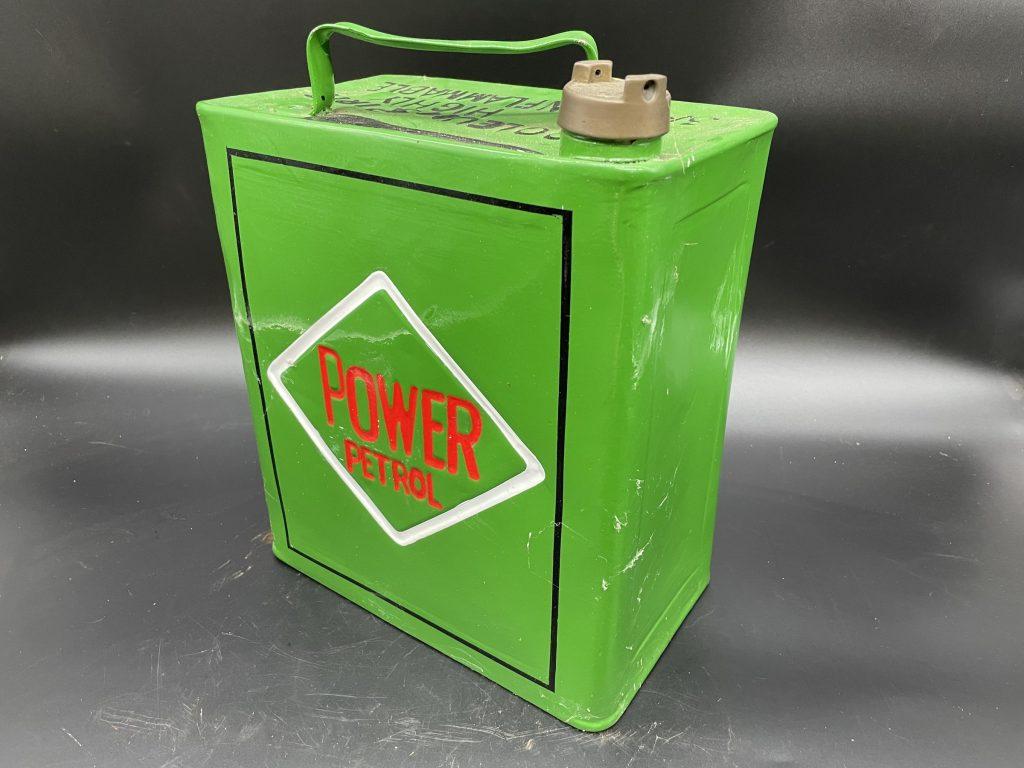 Alan Pooley petroliana collection Power petrol can