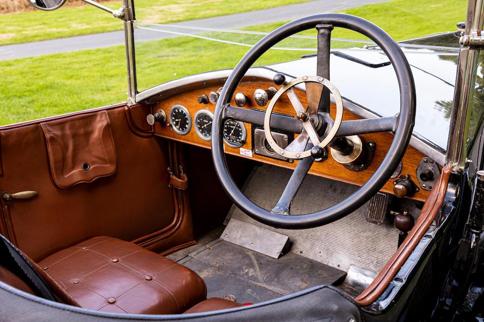 1927 Vauxhall 30-98 OE-Type Velox Tourer interior