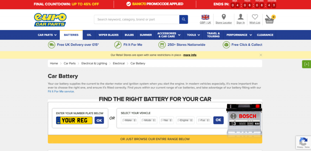 Euro Car Parts reviewed and rated