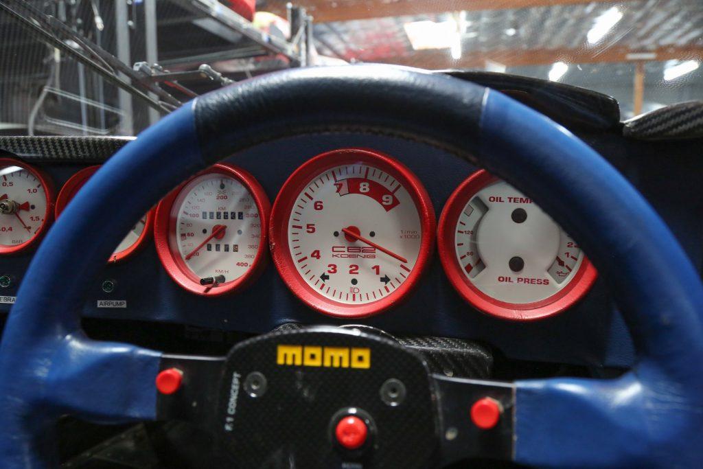 1991 Koenig C62 (Porsche 962) dials