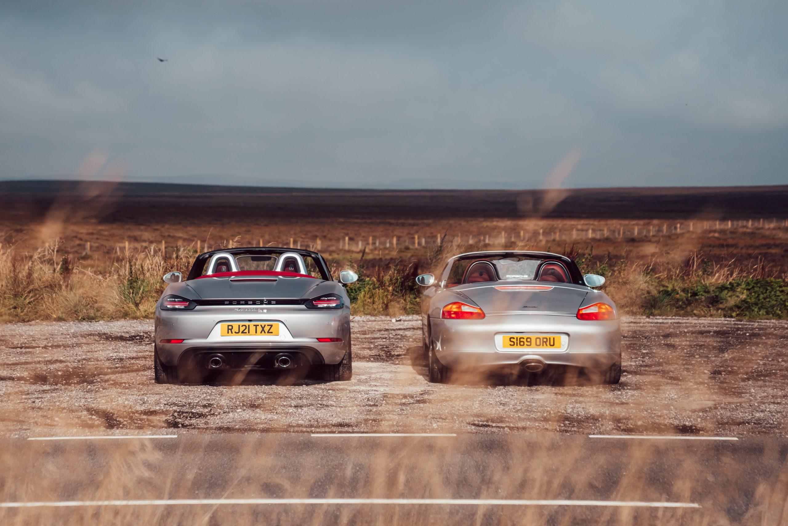 Rear view Porsche Boxsters