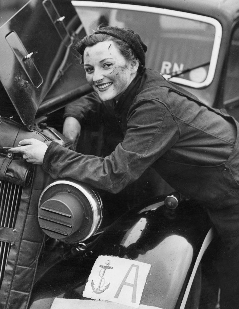 Wren mechanic at work on her car