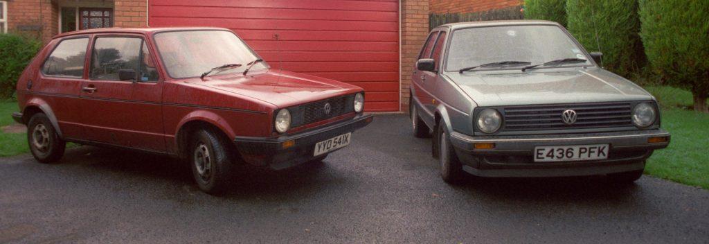 Jon Bentley Golf Mk1 and Mk2