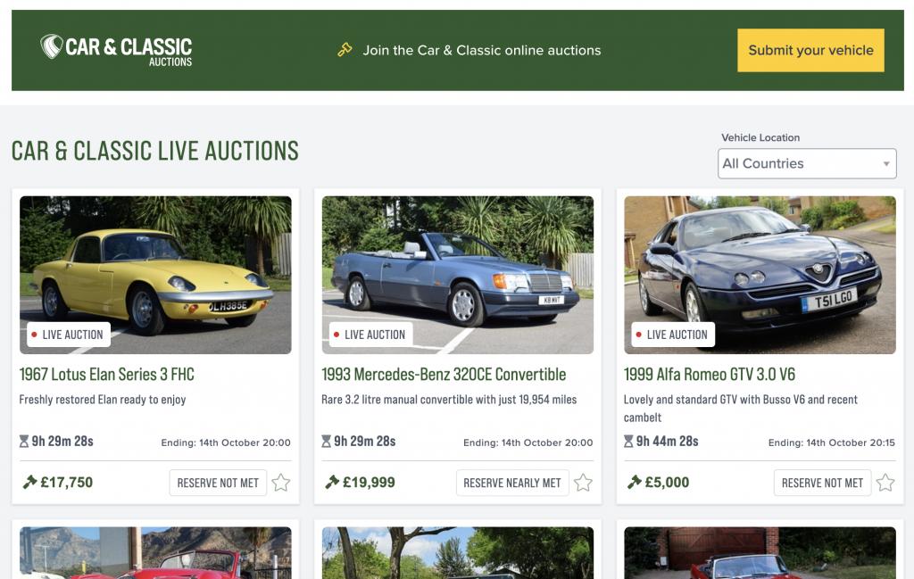 Car & Classic online auctions