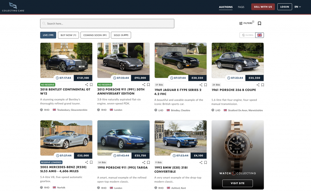 Collecting Cars - how trustworthy are online auction sites?