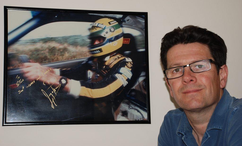 Steve Bennett with signed Senna photo